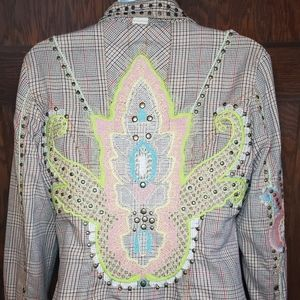 Biya 2.10.10.5 Johnny Was Stud Embroidered Jacket